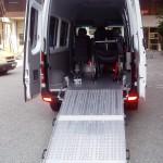 BRK Transit mit Alu Auffahrrampe und 4-Punkt Begurtungssytem