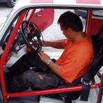 Fiat Abarth Rennwagen mit E-Gasring-Handbedienbare Betriebsbremse und Duck-Servokupplung